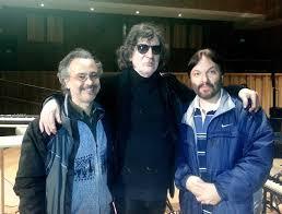 Patricio Villarejo y Carlos Cosattini junto a CHARLY - Usina del Arte, ensayos para Líneas Paralelas - Septiembre de 2013